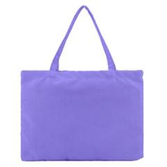 Neon Color   Light Persian Blue Medium Zipper Tote Bag