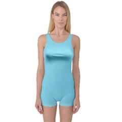 Neon Color   Luminous Vivid Blue One Piece Boyleg Swimsuit