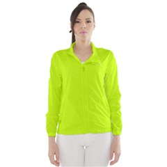 Neon Color - Luminous Vivid Lime Green Wind Breaker (Women)