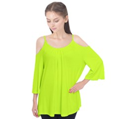 Neon Color   Luminous Vivid Lime Green Flutter Tees