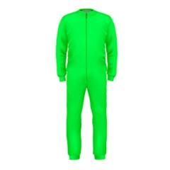 Neon Color - Luminous Vivid Malachite Green OnePiece Jumpsuit (Kids)