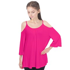 Neon Color   Luminous Vivid Raspberry Flutter Tees