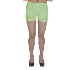 Neon Color - Pale Lime Green Skinny Shorts
