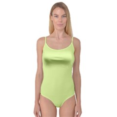 Neon Color - Pale Lime Green Camisole Leotard