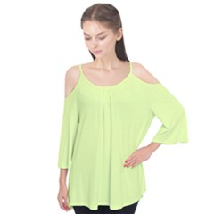 Neon Color   Pale Lime Green Flutter Tees