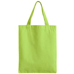 Neon Color - Very Light Spring Bud Zipper Classic Tote Bag