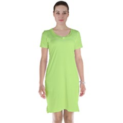 Neon Color - Very Light Spring Bud Short Sleeve Nightdress