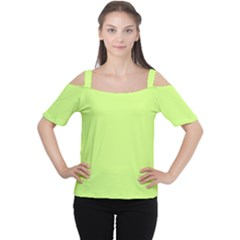 Neon Color - Very Light Spring Bud Women s Cutout Shoulder Tee