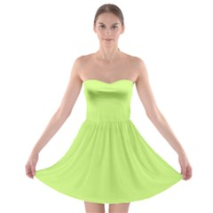 Neon Color - Very Light Spring Bud Strapless Bra Top Dress