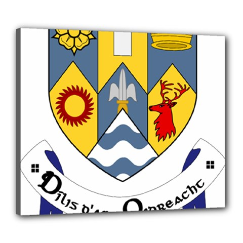 County Clare Coat of Arms Canvas 24  x 20