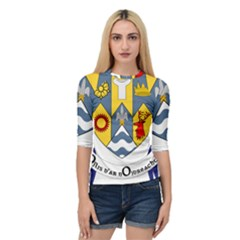 County Clare Coat Of Arms Quarter Sleeve Tee