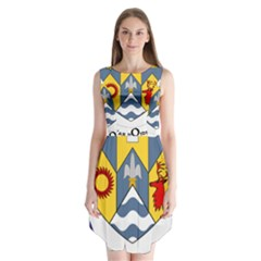 County Clare Coat of Arms Sleeveless Chiffon Dress