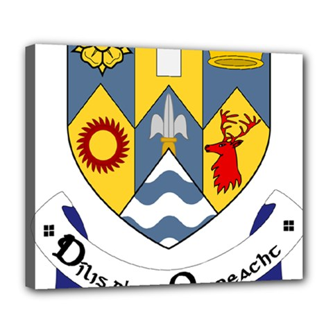 County Clare Coat of Arms Deluxe Canvas 24  x 20
