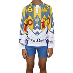 County Clare Coat of Arms Kids  Long Sleeve Swimwear