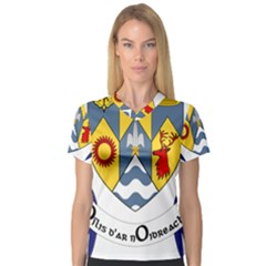 County Clare Coat of Arms Women s V-Neck Sport Mesh Tee