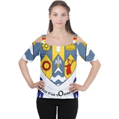 County Clare Coat of Arms Women s Cutout Shoulder Tee