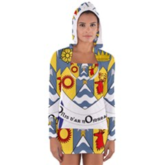 County Clare Coat of Arms Women s Long Sleeve Hooded T-shirt
