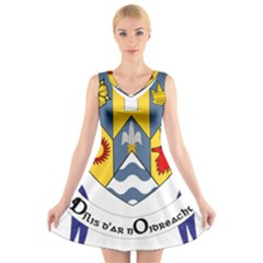 County Clare Coat of Arms V-Neck Sleeveless Skater Dress