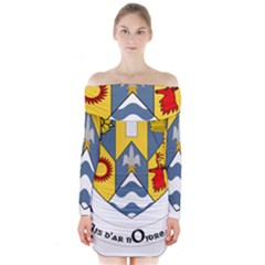 County Clare Coat of Arms Long Sleeve Off Shoulder Dress