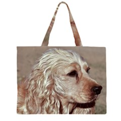 Golden Cocker spaniel Large Tote Bag