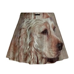 Golden Cocker spaniel Mini Flare Skirt