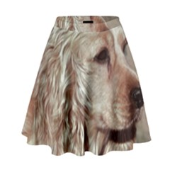 Golden Cocker spaniel High Waist Skirt