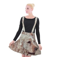 Golden Cocker spaniel Suspender Skater Skirt
