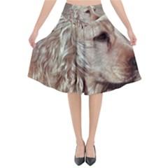 Golden Cocker spaniel Flared Midi Skirt