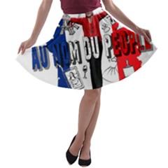 Marine Le Pen A-line Skater Skirt