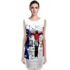 Marine Le Pen Classic Sleeveless Midi Dress