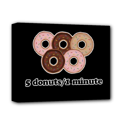 Five donuts in one minute  Deluxe Canvas 14  x 11