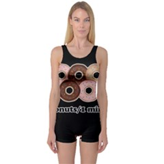 Five donuts in one minute  One Piece Boyleg Swimsuit