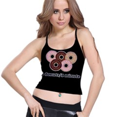 Five donuts in one minute  Spaghetti Strap Bra Top