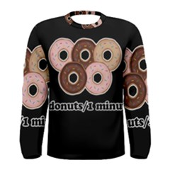 Five donuts in one minute  Men s Long Sleeve Tee