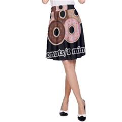 Five donuts in one minute  A-Line Skirt