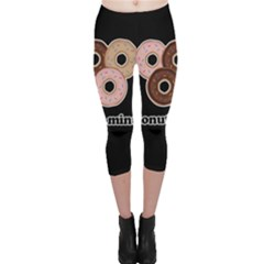 Five donuts in one minute  Capri Leggings