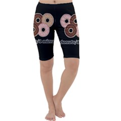Five donuts in one minute  Cropped Leggings