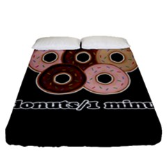 Five donuts in one minute  Fitted Sheet (Queen Size)