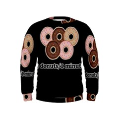 Five donuts in one minute  Kids  Sweatshirt