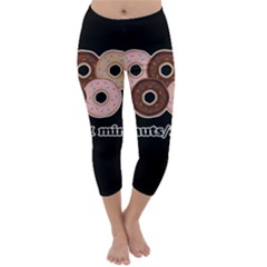 Five donuts in one minute  Capri Winter Leggings