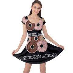 Five donuts in one minute  Cap Sleeve Dresses
