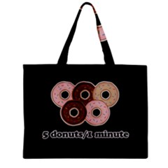 Five donuts in one minute  Zipper Mini Tote Bag