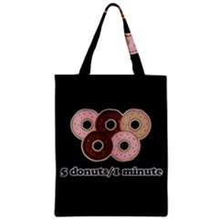 Five donuts in one minute  Zipper Classic Tote Bag