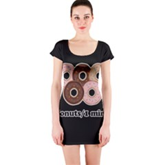 Five donuts in one minute  Short Sleeve Bodycon Dress
