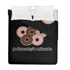 Five donuts in one minute  Duvet Cover Double Side (Full/ Double Size)