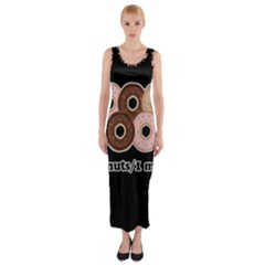 Five donuts in one minute  Fitted Maxi Dress