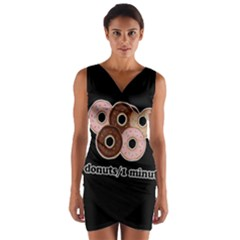 Five donuts in one minute  Wrap Front Bodycon Dress