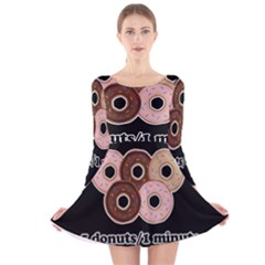 Five donuts in one minute  Long Sleeve Velvet Skater Dress