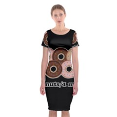 Five donuts in one minute  Classic Short Sleeve Midi Dress