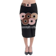 Five donuts in one minute  Midi Pencil Skirt